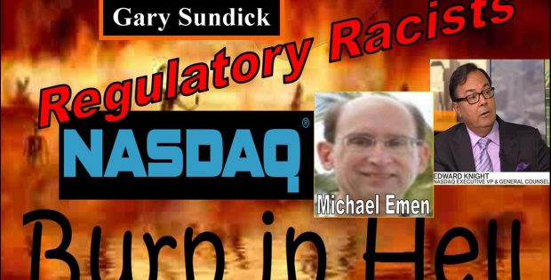 Gary Sundick, Michael Emen, Nasdaq Listing Abusers Celebrate Eulogy from Hell