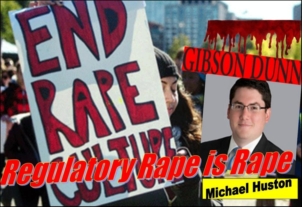 MICHAEL R. HUSTON, GIBSON DUNN LAWYER, HUSTONMICHEAELR, NASDAQ, REGULATORY RAPE CHARGES, IMMUNITY, DOUGLAS COX, FRAUD, CREEP, GARY SUNDICK, WILLIAM SLATTERY, ED KNIGHT, MICHAEL EMEN