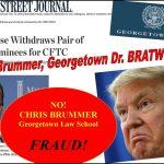 President Trump Dumps Georgetown Law Professor Chris Brummer CFTC Nomination, Fraud Cited
