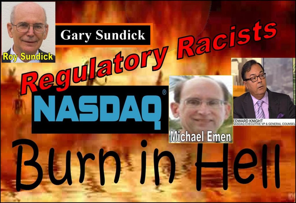 Roy Sundick, Gary Sundick, Michael Emen, Edward Knight, Alan Lawhead, Robert Colby, Alan Rowland, William Slattery, Nasdaq Listing Abusers Celebrate Eulogy