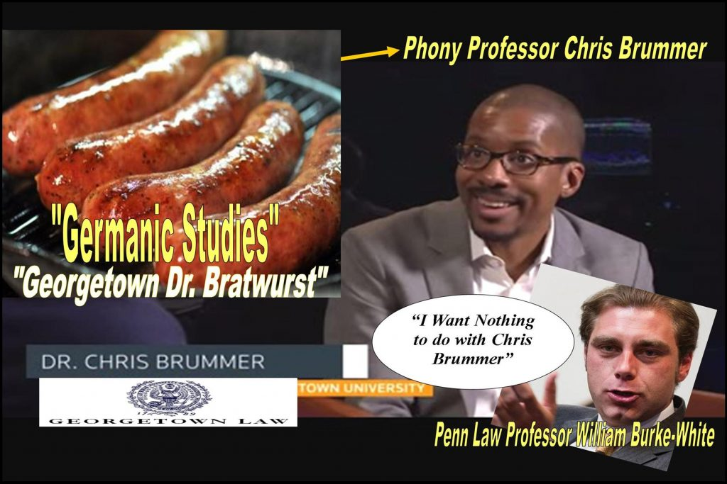 University Penn Law Professor William Burke-White, Avoid Chris Brummer, Georgetown Law Professor fraud, institute of international economic law