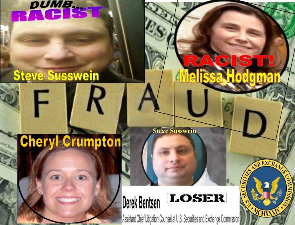 MELISSA HODGMAN, SEC ENFORCEMENT, CHERYL CRUMPTON, DEREK BENTSEN, STEPHANIE AVAKIAN, PATRICK FEENEY, NASDAQ, ED KNIGHT, ALAN ROWLAND, ROBERT COLBY, FINRA, RACIST