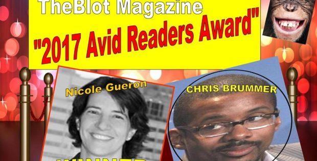 Nicole Gueron, Chris Brummer Won the 2017 TheBlot Magazine Avid Readers Award