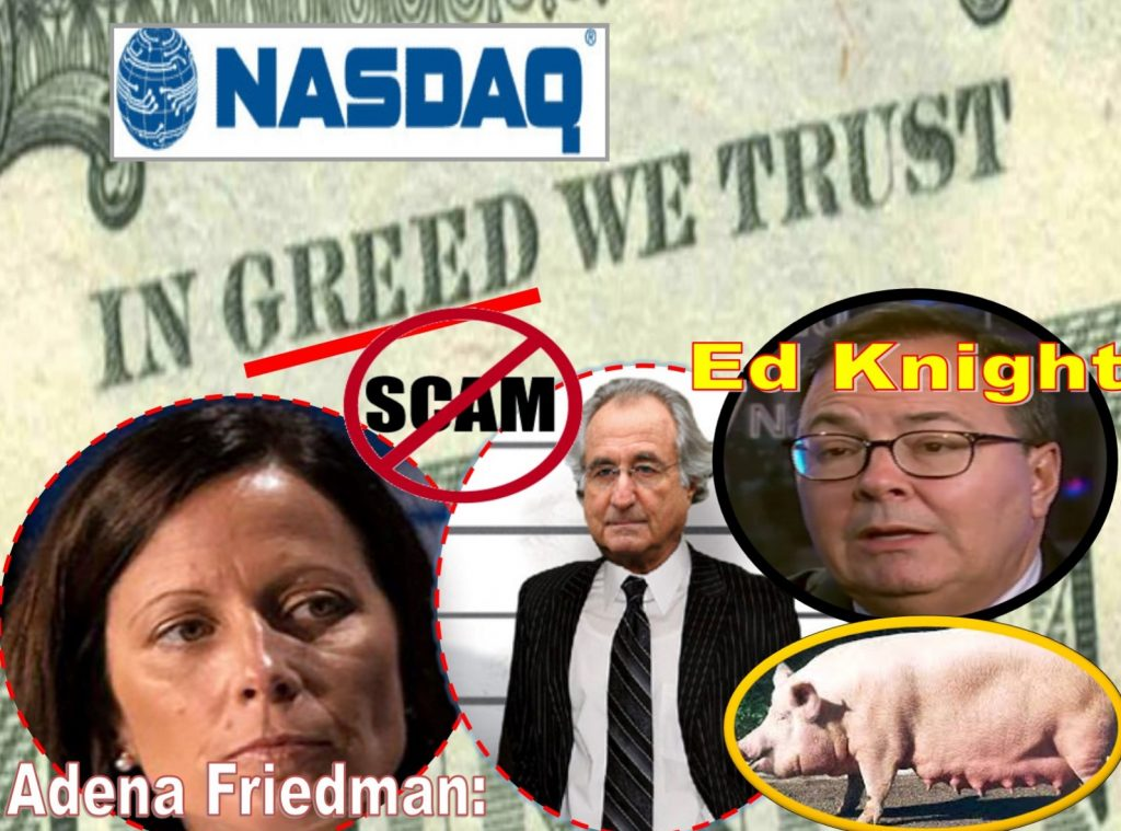 Adena Friedman, Ed Knight, Robert Greifeld, Michael Splinter, NASDAQ, NASDAQ Stock Market, Bernie Madoff, Andrew Hall, Alan Rowland, Arnold Golub, William Slattery, Michael Emen, Fraud