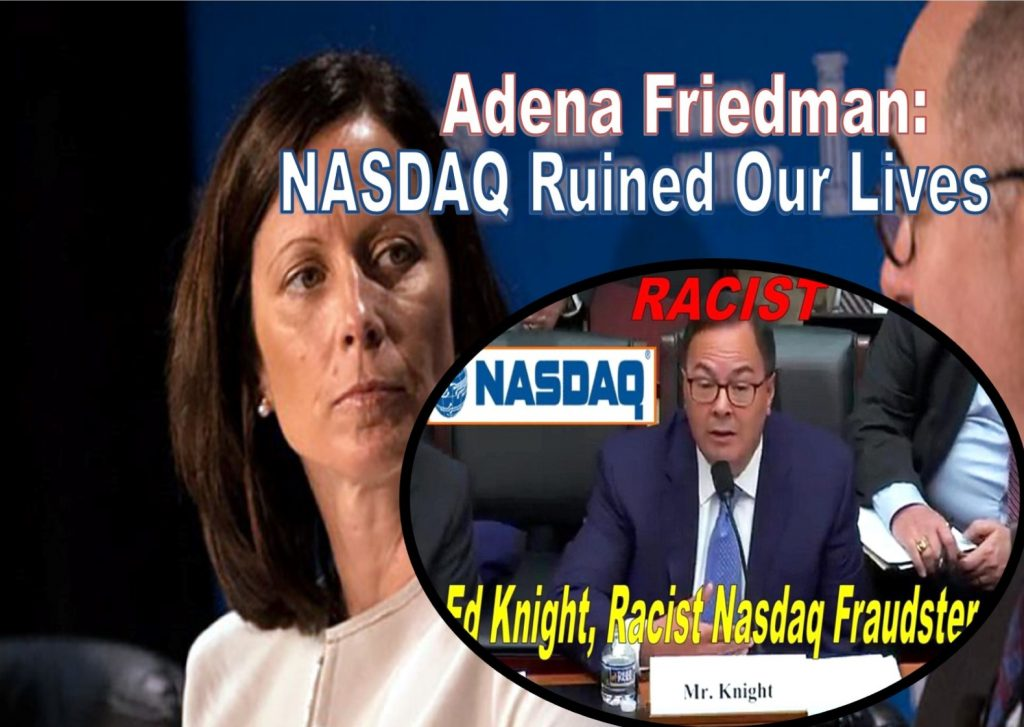 Adena Friedman, NASDAQ CEO, Nasdaq Stock Market, Ed Knight, Fraud, Alan Rowland, William Slattery, Michael Emen, Eric Noll Fraud