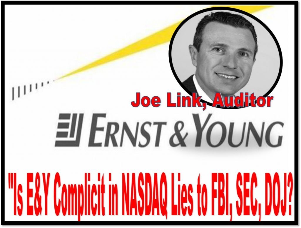 Joe Link, Nasdaq auditor, Ernst and Young, COMPLICIT IN NASDAQ FRAUD
