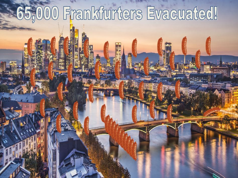 WWII Blockbuster Bomb Defused in Frankfurt, 65,000 People Evacuated