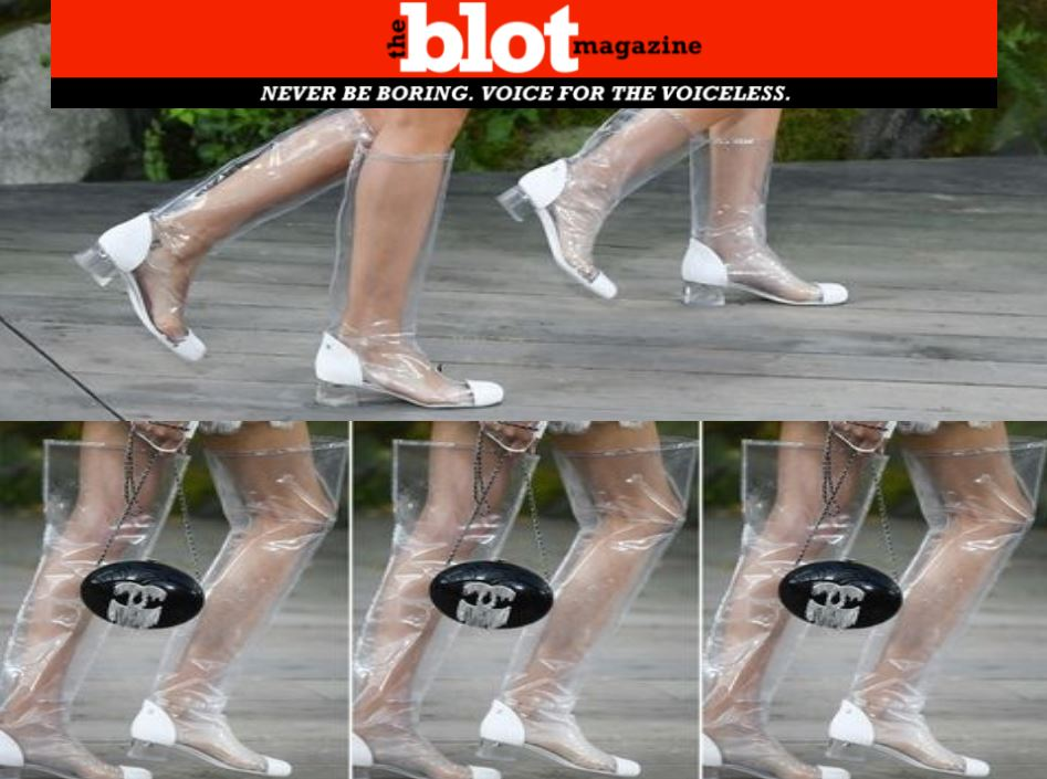 Plastic Boots, All the Rage in 2018 Fashion for the Future