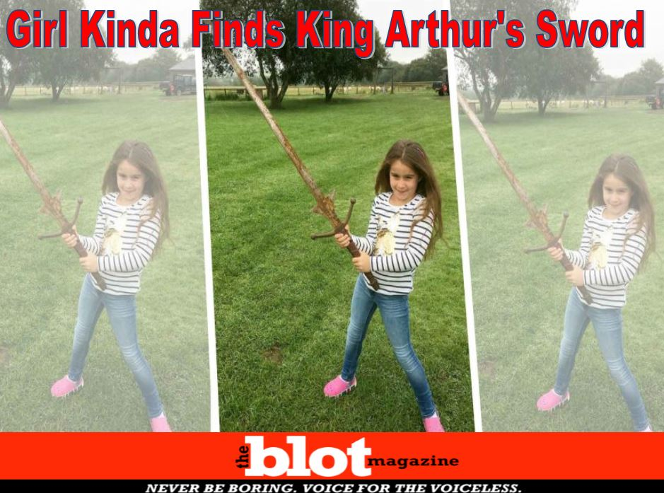 Seven Year Old Girl Finds King Arthur Sword, Excalibur