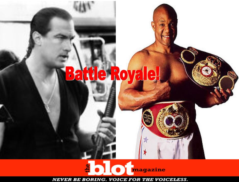 Steven Seagal Challenged to Fight in Vegas by George Foreman
