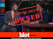 Affleck Stumbles to Success Answering Colbert on Groping