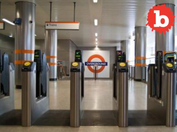 London Fare Jumper Gets Junk Stuck on Turnstile