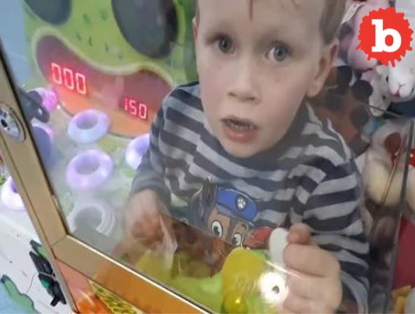 Boy Lured by Toy Climbs into Claw Machine and Can't Get Out