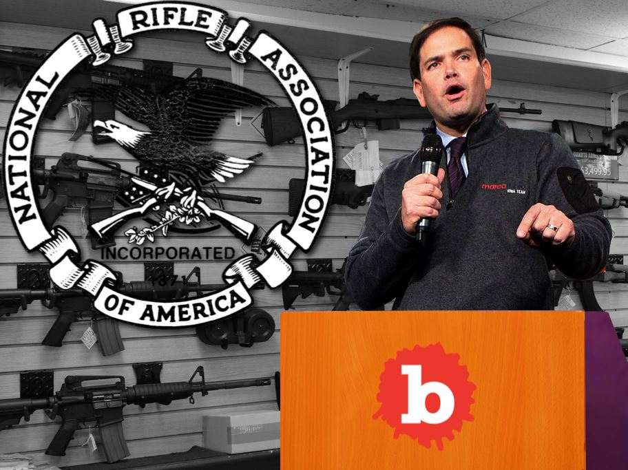 Florida Sen. Marco Rubio Wants NRA Donations Despite Murders