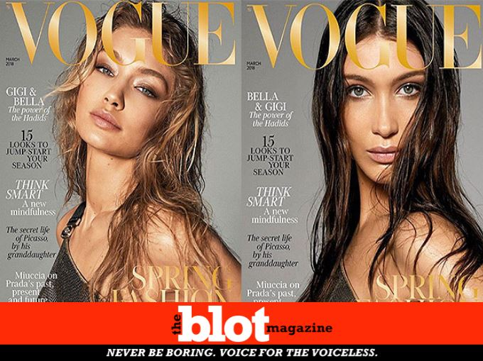 Gigi and Bella Hadid Posing Naked, Idiots React