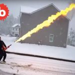 Snow Removal Specialist goes HAM and Uses Flamethrower on Driveway