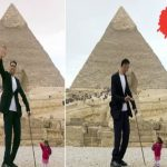 Tallest Man, Shortest Woman on Earth Appear in Egypt