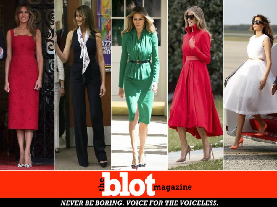 Melania Wear Lots of Clothes No Statement