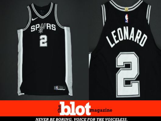 Omen or Amen  Kawhi Unworn Playoff Jersey for Auction.