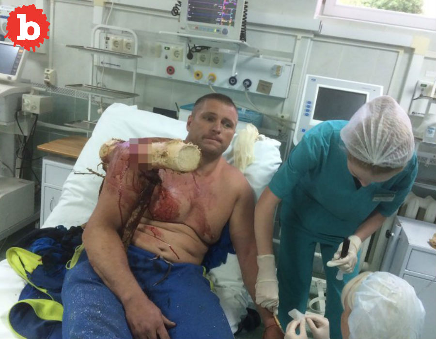Biggest Bad Ass, Belarus Paraglider Stabbed by Groot