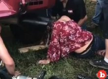 Drunk Woman Has Head Stuck in Truck Tail Pipe at Music Fest