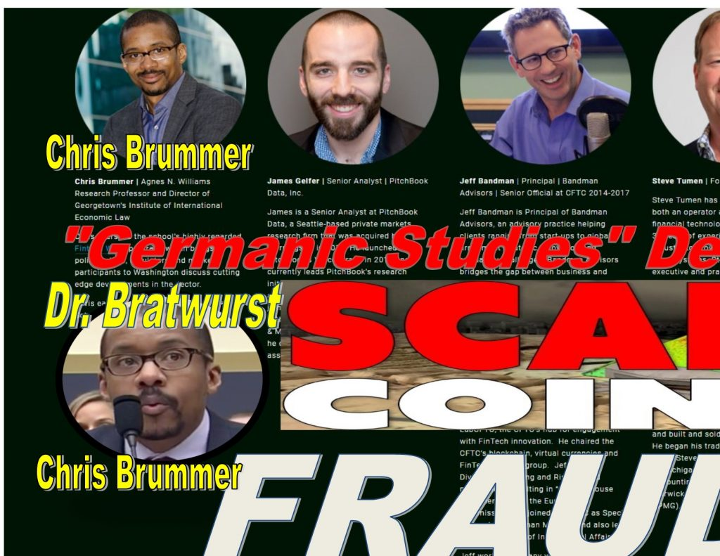 CHRIS BRUMMER, Crytocurrency fraud, Georgetown Law Center professor, Rachel Loko, crypto evolved, James Gelfer, Pitchbook data, Jeff Bandman, steve Tumen, deep systems