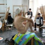Grandfather in China Becomes Nude Model Out of Boredom