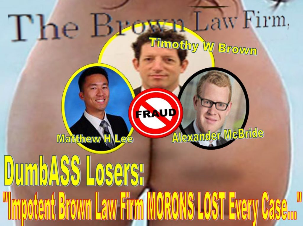 Timothy Brown, Brown Law Firm, Alexander McBride, Matthew H Lee, Oyster Bay, New York, Lawyer, fraud, metoo, class action, derivatives, plaintiff, fraudster, Andrew Morrison, Manatt, Phelps, Phillips, LLP