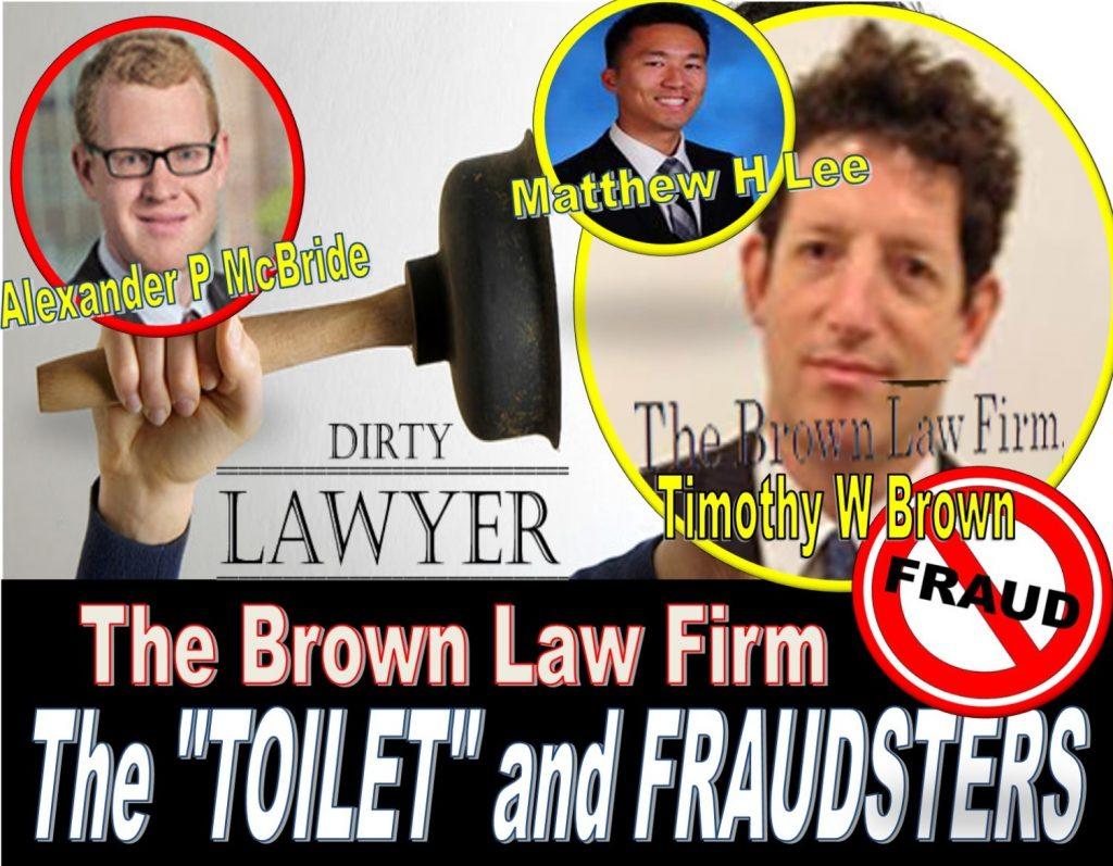 Andrew Morrison, Manatt Phelps Phillips, Timothy W Brown, The Brown Law Firm, Alexander P McBride, Matthew H Lee, oyster bay, lawyers, fraud, Tom FINI, Catafago Fini