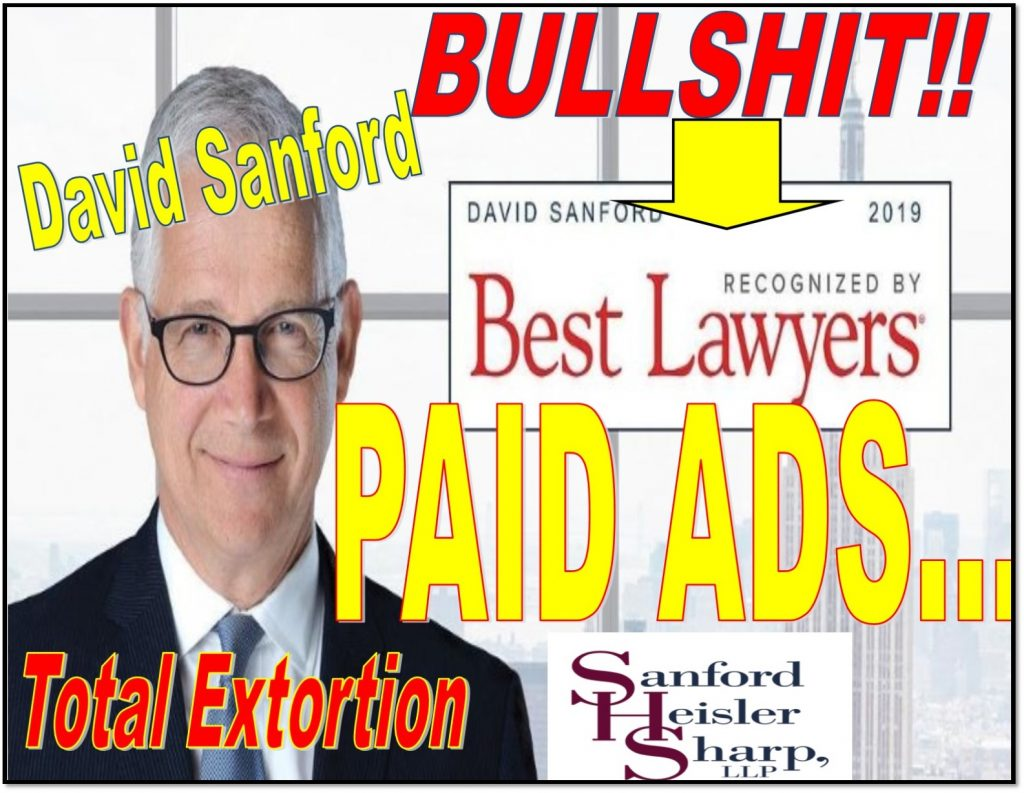 David Sanford, employment attorney, Sanford Heisler Sharp, LLP, Chairman, discrimination, big law, Enrichetta Ravina, Geert Bekaert, Columbia University, Patrick Bolton, Charles Calomiris, sexual harassment, fraud