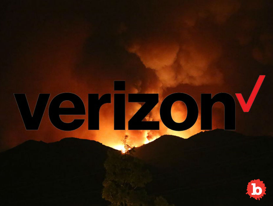 Evil Verizon Throttles Firefighters Fighting Wildfires