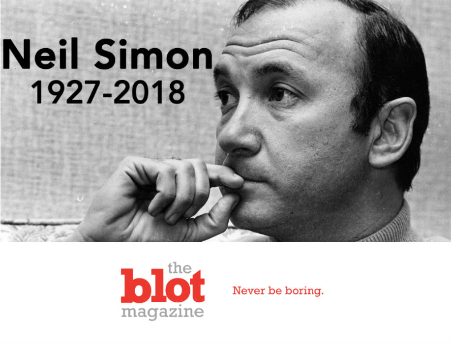 I Am Sad That Neil Simon Has Passed Away