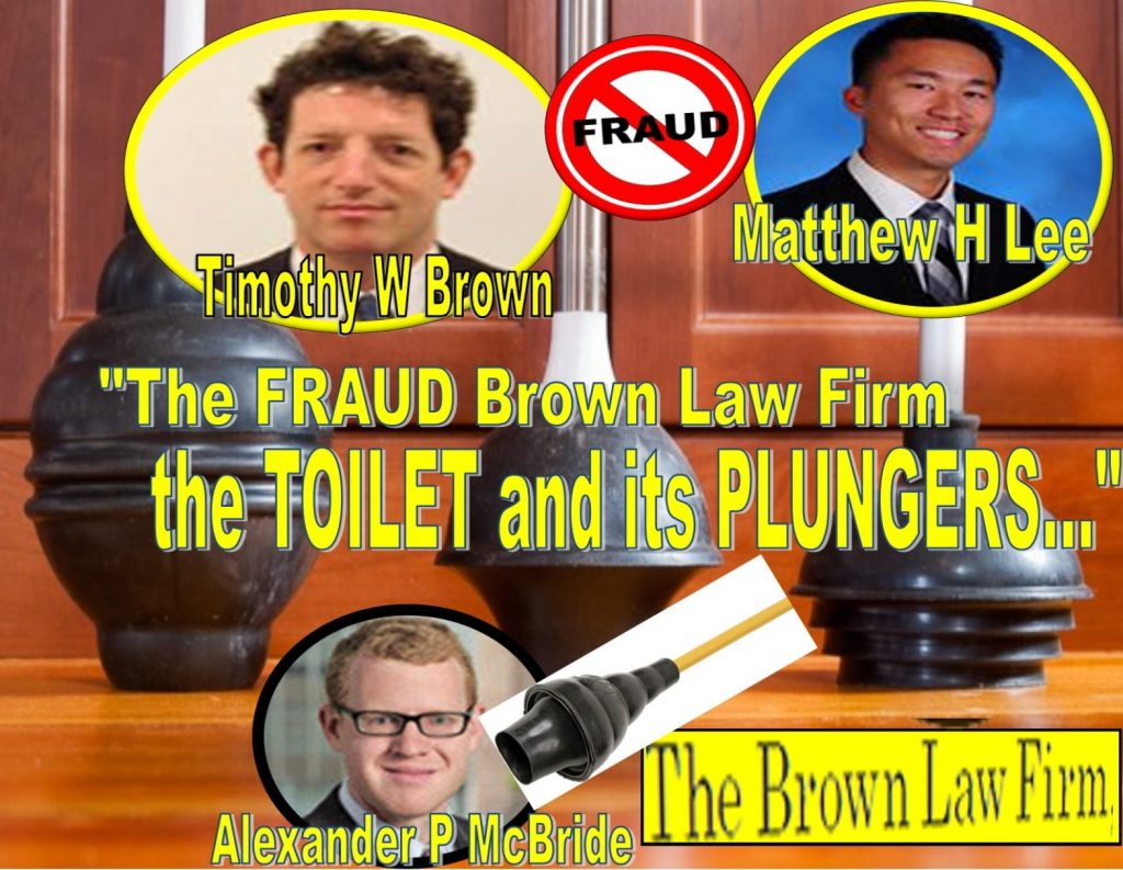 "TIMOTHY W BROWN, a midget lawyer of THE BROWN LAW FIRM in Oyster Bay, New York is no stranger to controversial media exposure. In fact, this short stick who grows an afro atop a largely empty brain is quite infamous as an ambulance chasing midget ""lawyer"" – very low on ethics and very short on the law. TIMOTHY BROWN is a notorious figure and a guaranteed loser, who barely survives a despicable life like a neutered rat feeding off heavily polluted oysters in Oyster Bay. Readers shouldn't be surprised: Court records show Timothy W Brown and his tiny law outfit - dubbed The Brown Law Firm haven't won a single case in recent memory. Joined by two equally unscrupulous young kids MATTHEW H LEE and ALEXANDER P MCBRIDE, The Brown Law Firm teeters on the verge of bankruptcy. Who wants to hire a lawyer who has lost nearly every single case? ANDREW MORRISON, a lawyer with MANATT, PHELPS & PHILLIPS in midtown Manhattan has some strong words for Timothy Brown his tiny The Brown Law Firm, citing several sources, ""TIMOTHY BROWN is 100% fraud, loser and an impotent con man."" Over the years, Timothy W Brown has made a living extorting successful businessmen and smearing their wives. A pervert who got caught in the #MeToo movement, Timothy W Brown has a history of abuses against men, women or anything that has moving legs... Like a plunger soaked in human feces stuck in an overflowing toilet, Timothy W Brown and The Brown Law Firm are indeed losers matched in hell: the plunger and the toilet. Their common trait? That unbearable stench. The Brown Law Firm, the Timothy Brown Treacherous Path of fraud, lies, extortion The Brown Law Firm does have a unique business model: blackmail - lying to judges and making up empty threats against businesses to squeeze money. For years, The Brown Law Firm and the neutered rats behind the tiny outfit, TIMOTHY W BROWN, MATTHEW H LEE and ALEXANDER P MCBRIDE struggled to stay afloat, getting buried deep in credit card debts and multiple defaults on bank loans, according to public records. Months behind paying the office rent, Timothy Brown induced two young beavers fresh out of law school named MATTHEW H LEE and ALEXANDER P MCBRIDE to join his one-man body shop named The Brown Law Firm. With a small office the size of an Arkansas chicken house, The Brown Law Firm's ""headquarter"" is an Oyster Bay strip mall next to two Vietnamese massage parlors and sex salons – surely happy endings for the money strapped TIMOTHY W BROWN, MATTHEW H LEE and ALEXANDER P MCBRIDE. Tom Fini, legendary Catafago FINI lawyers Crush the Timothy Brown fraud Timothy W Brown's latest scam is a frivolous lawsuit he has brought against 6D Global Technologies, Inc, a Silicon Valley tech powerhouse in the digital marketing industry. For more than three years, Timothy W Brown threatened 6D Global with fake allegations, exploiting the court by telling manufactured stories told by an obscure plaintiff named ALLAN SCOTT, a Las Vegas gambler and pimp who was twice caught with peddling sex, cocaine and whores on the streets of Vegas. Unable to force 6D CEO Tejune Kang into paying a ransom, the flustered Timothy W Brown lashed out at Mr. Kang's lawyer – the renowned litigator TOM FINI of CATAFAGO FINI located in the Empire State Building, accusing Mr. Fini of improper behavior. TOM FINI was fired up and fought back in court filings: ""Tellingly, the attorney whose Section 14(a) was dismissed in Witchko was the same attorney here – [the notorious] Timothy Brown. The fact that the same attorney used the same faulty theory [and lies] to support a Section 14(a) claim only highlights the baseless nature of this action."" ""Incredibly, Plaintiff's counsel TIMOTHY W BROWN deliberately concealed the date that Plaintiff purchased his 6D shares in the Original Complaint and the First Amended Complaint. Plaintiff admitted to the fact for the first time in his Second Amended Complaint and only after counsel for the 6D Defendants raised the issue of standing with Plaintiff's counsel in an email. Even then, Plaintiff's counsel refused to provide the 6D Defendants with any evidence of Plaintiff's stock ownership, electing instead to respond by adding the date into a single line of the Second Amended Complaint."" Meanwhile, 6D CEO Tejune Kang stood his ground and refused to pay the Timothy Brown extortion. Timothy W Brown, Fraud, lies, Timothy W Brown was in retreat, suffering from defeat after defeating in futile court motions across the nation. Grilled like a summer sausage, The Brown Law Firm's entire law practice is a wagon of lies, fraud and extortion, court records revealed. The Brown Law Firm is nothing, but a tiny outfit centered around a heavily polluted swamp for cheap rent. In a typical and conclusory blackmail fashion, Timothy Brown lumps together his two pion associates MATTHEW H LEE and ALEXANDER P MCBRIDE on the back of his pickup truck and left town in total disgrace. For the citizens of Oyster Bay, celebration erupted. Many cheered the departure of TIMOTHY W BROWN and his loser law practice, leaving an indelible mark of permanent disgrace on a midget ambulance chaser. To be continued… The drumbeat is on."