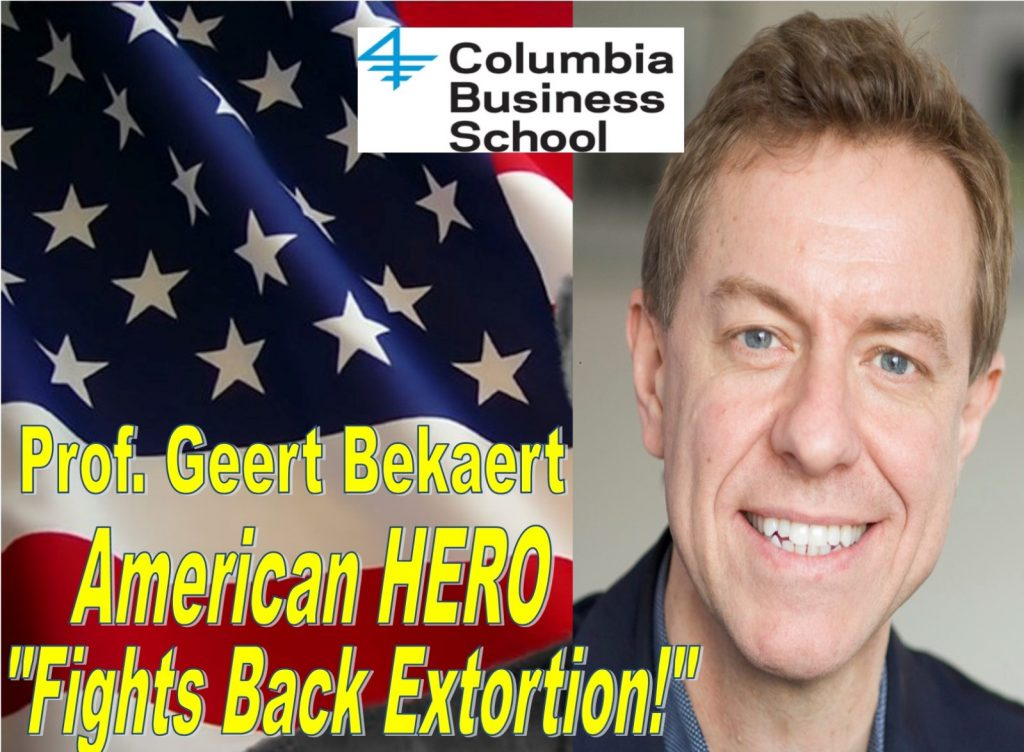 Professor Geert Bekaert, Enrichetta Ravina, sexual harassment, Glenn Hubbard, Columbia Busines School, David Sanford, Alexandra Harwin, Sanford Heisler Sharp, labor lawyers, fraud