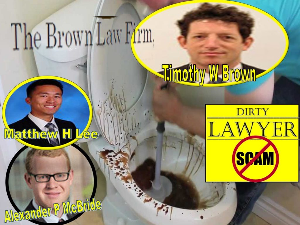 Timothy Brown, Matthew H Lee, Alexander P McBride, The Brown Law Firm, Oyster Bay, New York, lawyers, Derivatives, Tom Fini, Catafago Fini, Andrew Morrison, Manatt Phelps Phillips