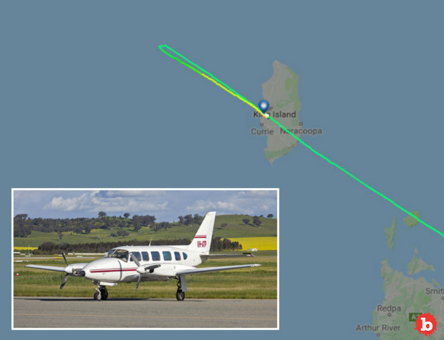 Napping Pilot Flies Past King Island, Tasmania Destination