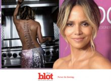 Halle Barry Posts Topless Pic, New Full Back Tattoo