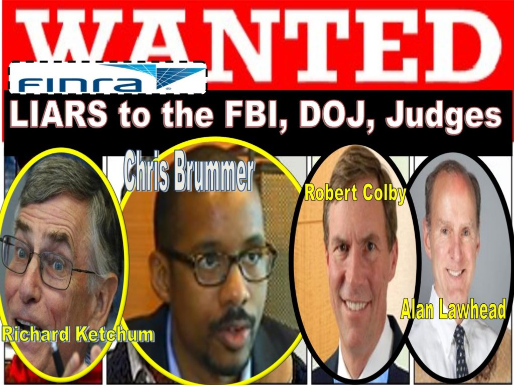 Chris Brummer, Georgetown Law, FINRA NAC, Myles Edwards,Robert Colby, Richard Ketchum, Alan Lawhead, Michael Garawski, Rachel Loko, Nicole Gueron, Ashleigh Hunt, FBI, Germanic Studies