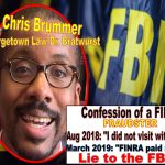 Georgetown Law Chris Brummer Deceives Esteemed New York Justice Lucy Billings, False Sworn Affidavit Perjury, Brummer FINRA NAC lies to FBI Got Caught
