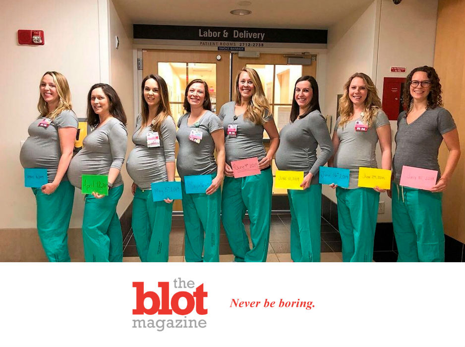 9 Maine Hospital's Maternity Nurses all Expecting Within Months