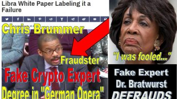 Blasting Facebook Libra, Fake Crypto Fintech Expert Chris Brummer Defrauds Congress, Legendary Maxine Waters Duped