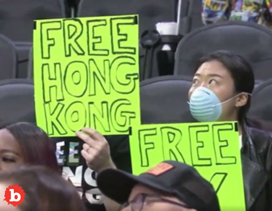 Free Hong Kong Sign Gets Sixers Fans Ejected From Game