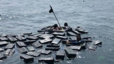 Likely Smugglers Saved From Drowning By Floating Cocaine