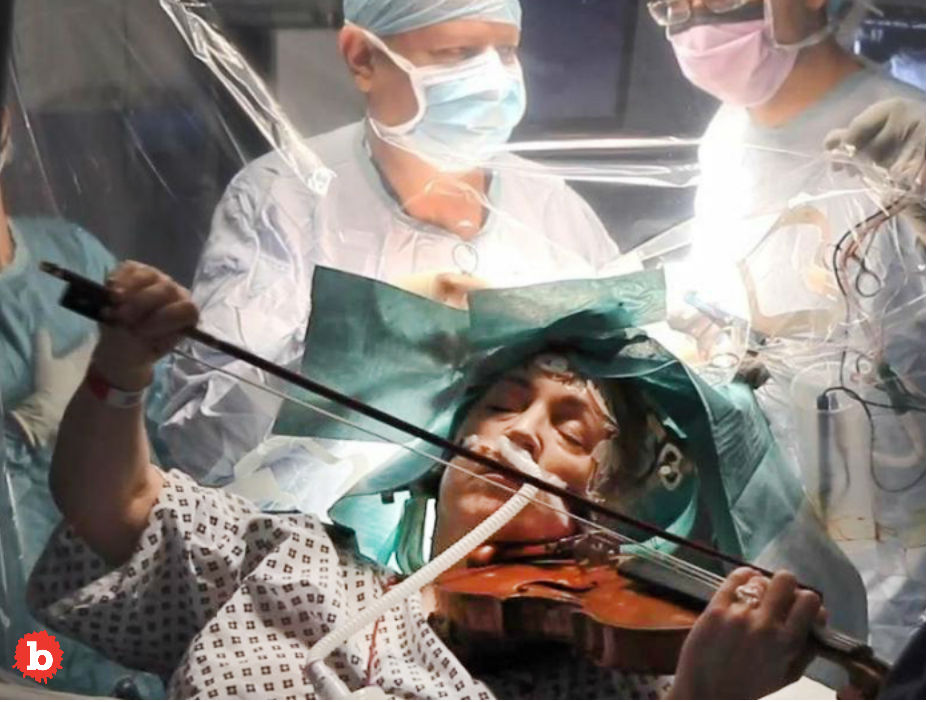 Woman Plays Violin During Brain Cancer Brain Surgery