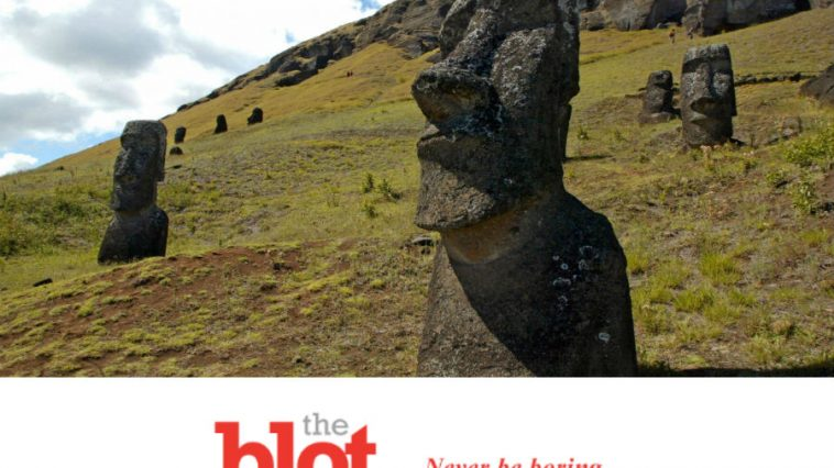 Failed Brakes Have Truck Destroy Easter Island Head Statue
