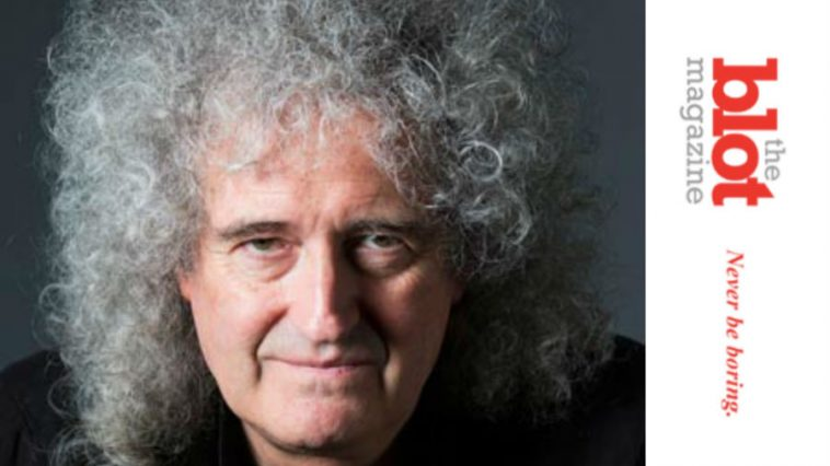 Brian May, Aging Queen Rock Star, Tears Ass While Gardening