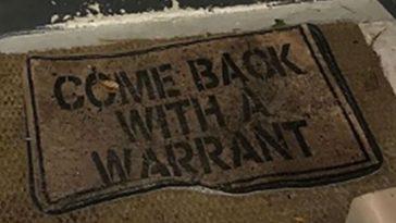 Florida Home Doormat Says Get a Warrant, Police Oblige