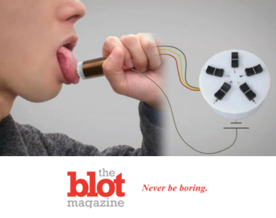 Freaky! New Lickable Device Lets You Taste Any Flavor