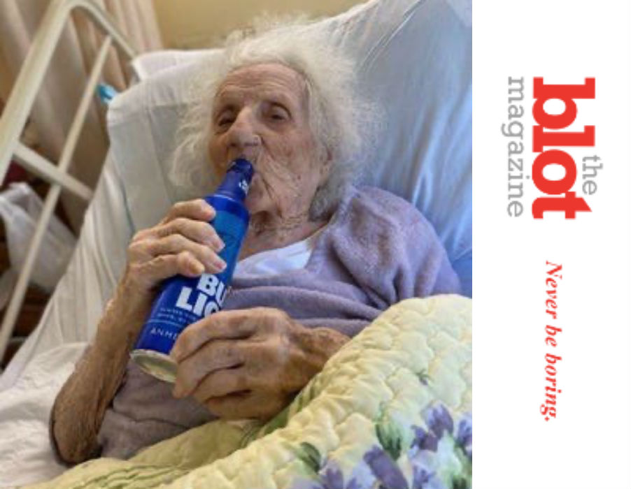 Feisty Grandma Jennie Stejna, 103, Beats Covid and Has a Bud Light