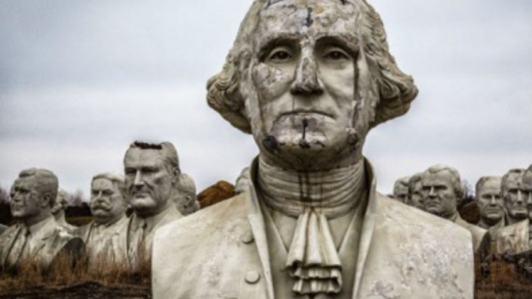 Presidential Heads Crumble in Virginia Field, Testament of Today